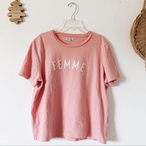 Madewell | Pink Femme Cotton Tee